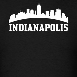 Vintage Style Skyline Of Indianapolis IN - Men's T-Shirt