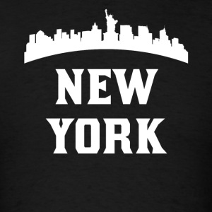Vintage Style Skyline Of New York NY - Men's T-Shirt