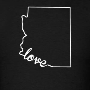 Arizona Love State Outline - Men's T-Shirt