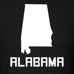 Alabama State Silhouette - Men's T-Shirt