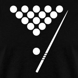 billiards balls and pool stick cool billiards mens t shirt