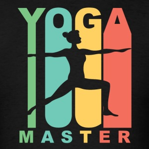 Vintage Style Yoga Master Warrior Two Yoga Pose - Men's T-Shirt