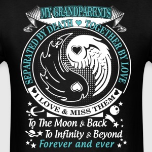 My grandparents I love miss them To the moon back - Men's T-Shirt