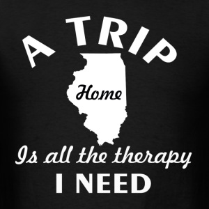 A trip to Illinois - Men's T-Shirt