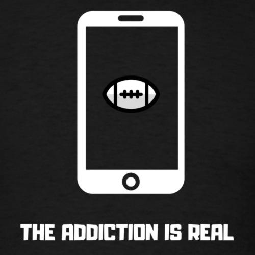 THE ADDICTION IS REAL (White) - Men's T-Shirt