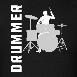 Drummer Silhouette Cool Drumming - Men's T-Shirt