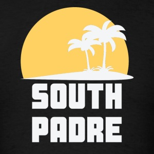 South Padre Island Texas Sunset Palm Trees Beach - Men's T-Shirt