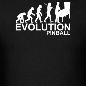 Evolution Of Man From Ape To Pinball - Men's T-Shirt