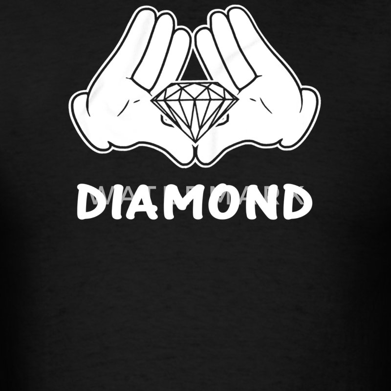 mickey hands diamond - Men's T-Shirt