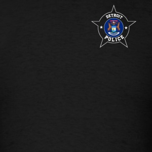 Detroit Police T Shirt - Michigan flag - Men's T-Shirt