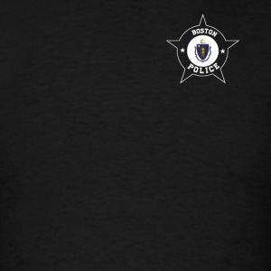 Boston Police T Shirt - Massachusetts flag - Men's T-Shirt