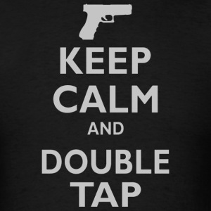 Keep Calm and Double Tap - Men's T-Shirt