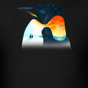 Penguin Sunset - Men's T-Shirt