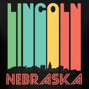 Retro Lincoln Nebraska Skyline - Men's T-Shirt