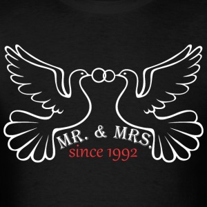 Mr And Mrs Since 1992 Married Marriage Engagement - Men's T-Shirt