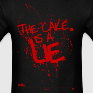 The cake is a lie - Men's T-Shirt