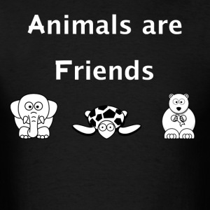 Animals are Friends - Men's T-Shirt