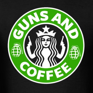 Guns and Coffee - Men's T-Shirt