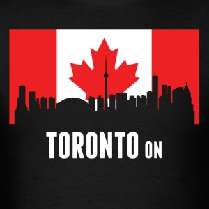 Canadian Flag Toronto Skyline - Men's T-Shirt
