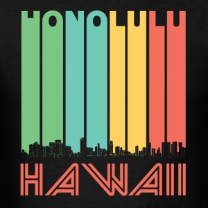 Retro Honolulu Hawaii Skyline - Men's T-Shirt