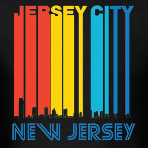Retro Jersey City New Jersey Skyline - T-shirt pour hommes