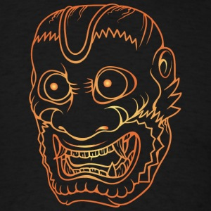 colorful_demon_laughing_gold - Men's T-Shirt