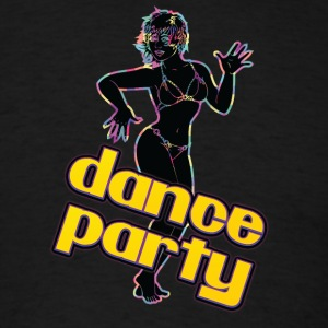 dance_party_with_sexy_girl_black - Men's T-Shirt