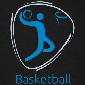 Basketball_blue - Men's T-Shirt