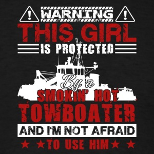 Girl Is Protected By A Towboater Shirt - Men's T-Shirt
