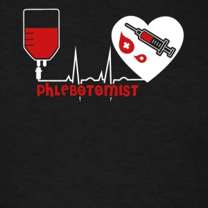 Phlebotomist Heart Shirt - Men's T-Shirt