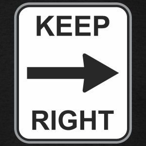 Road_sign_Keep_right - Men's T-Shirt