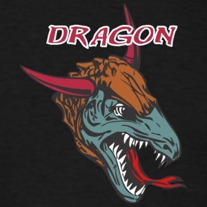 dragon_with_bull_horn_color - Men's T-Shirt