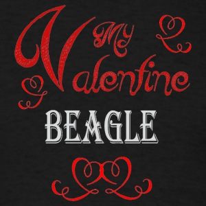 A romantic Valentine with my Beagle - Men's T-Shirt
