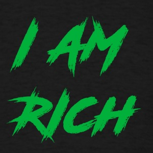 I AM RICH (WASTE OF MONEY) - Men's T-Shirt
