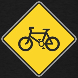 Road_Sign_bicycles_yellow - Men's T-Shirt