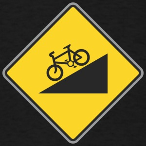 Road_Sign_angle_bicycle_way - Men's T-Shirt