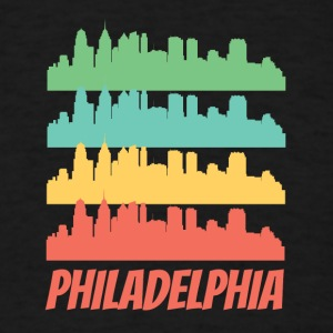 Retro Philadelphia PA Skyline Pop Art - Men's T-Shirt