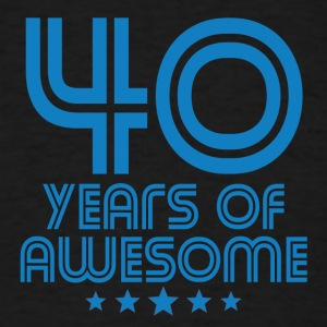 40 Years Of Awesome 40th Birthday - Men's T-Shirt