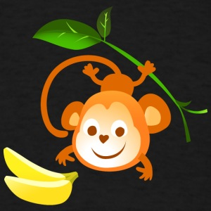 monkey banana animal wildlife vector kids picture - Men's T-Shirt