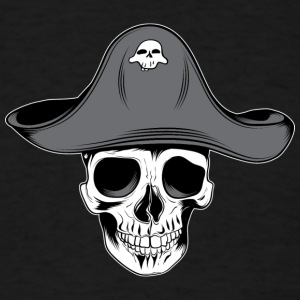 skull_pirate_with_aht - Men's T-Shirt