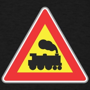 Road_sign_train - Men's T-Shirt