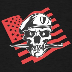american_special_army_man_with_flag - Men's T-Shirt