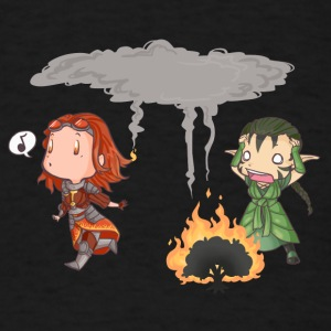 Chandra v. Nissa - Where there's smoke... - Men's T-Shirt