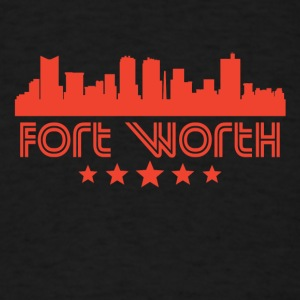 Retro Fort Worth Skyline - Men's T-Shirt
