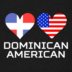 Dominican American Hearts - Men's T-Shirt
