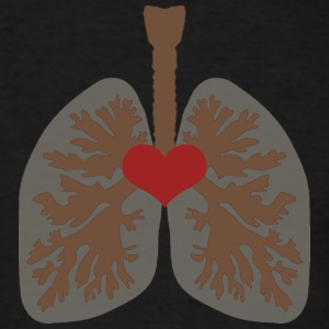 LOVE YOUR LUNGS! - Men's T-Shirt