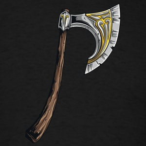 big medieval axe - Men's T-Shirt