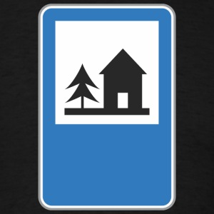 Road_sign_forest_home - Men's T-Shirt