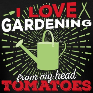 I love gardening from my head tomatoes (light) - Men's T-Shirt