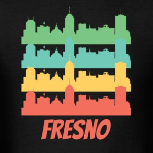 Retro Fresno CA Skyline Pop Art - Men's T-Shirt